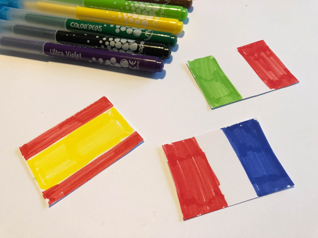 World Cup mini flags activity
