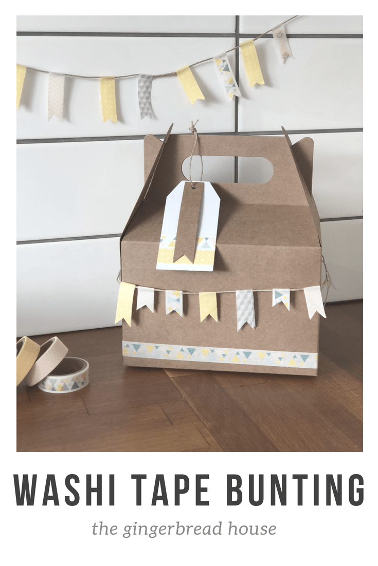 Washi tape bunting for Father's Day