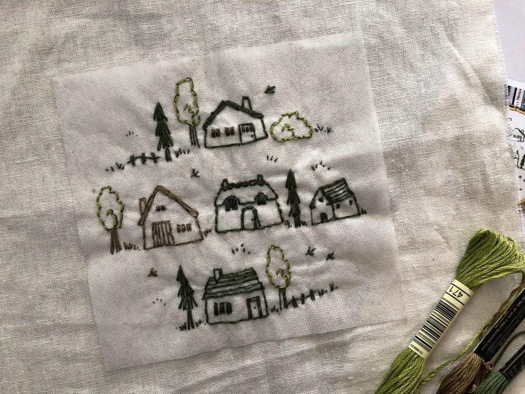 Village Embroidery Kit
