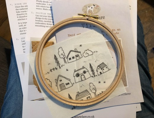 Janet Clare's Village Embroidery Kit