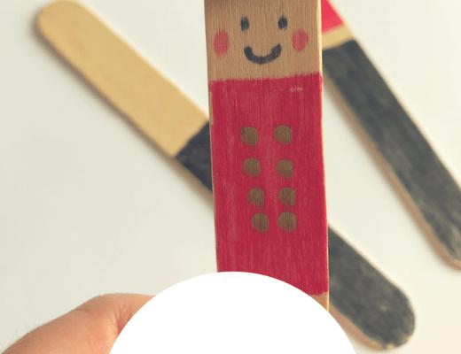London Guards craft stick activity