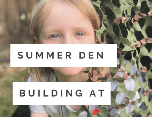 Simple Summer activity for kids - den building
