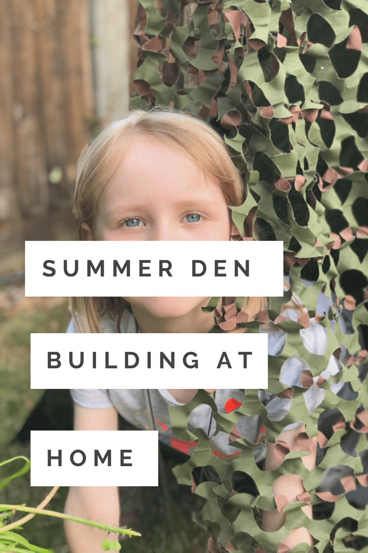 Simple Summer activity for kids - den building