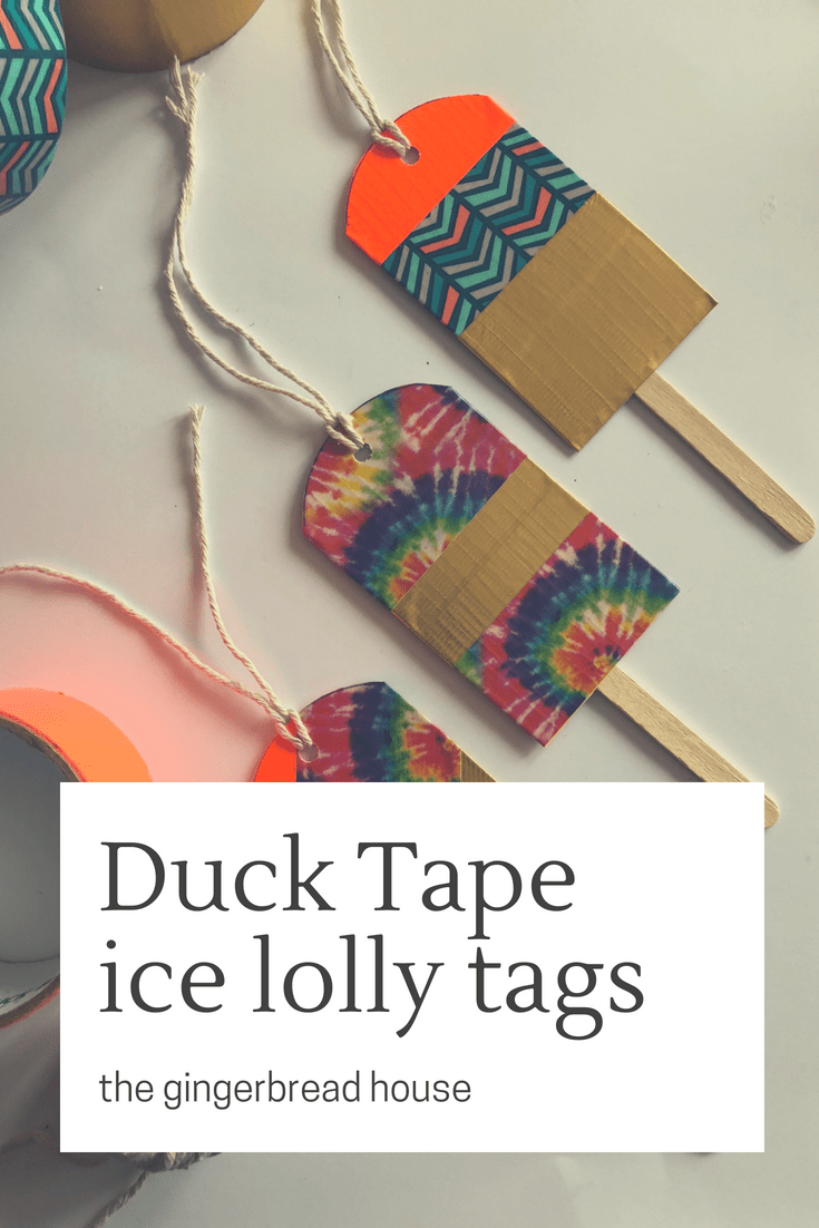 DIY Duck Tape ice lolly tags
