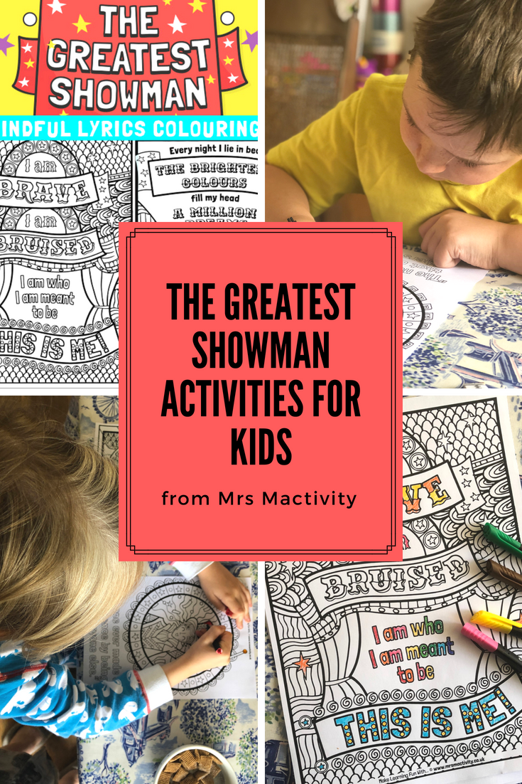 The Greatest Showman activities for kids