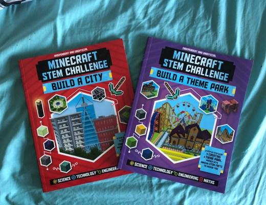 Minecraft STEM Challenge books for kids
