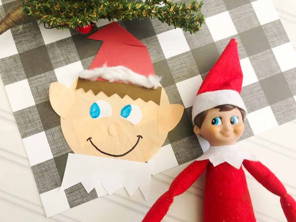 christmas elf craft for kids