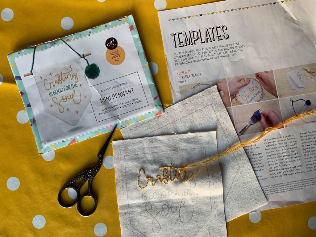 Mollie Makes mini pennant kit