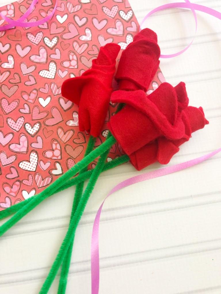 how to make a felt rose bouquet