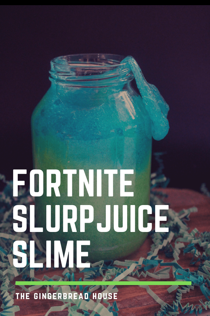 DIY Fortnite Slurp Juice Slime recipe for kids