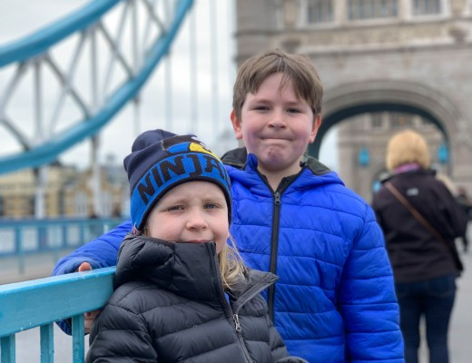 Exploring Tower Bridge London with kids