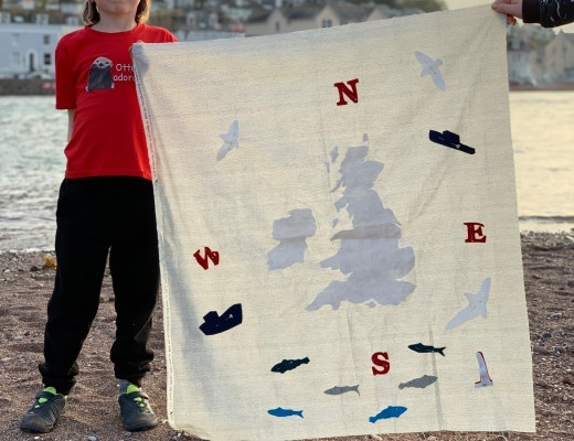 Stitching by the sea and a Shipping Forecast Quilt update