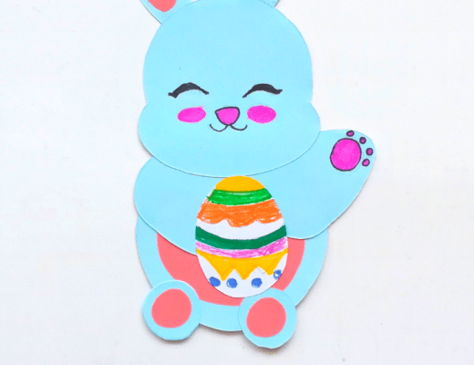 Easter paper bunny craft for kids from the gingerbread house blog