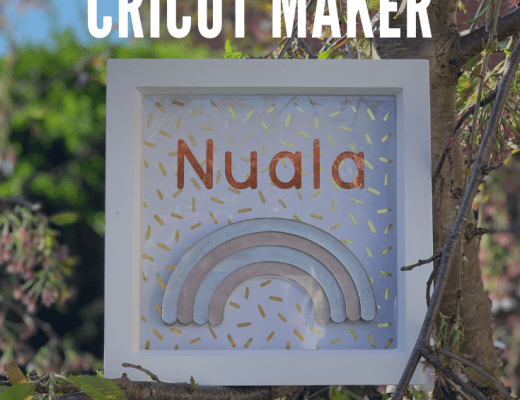 How to make rainbow wall art with your Cricut Maker