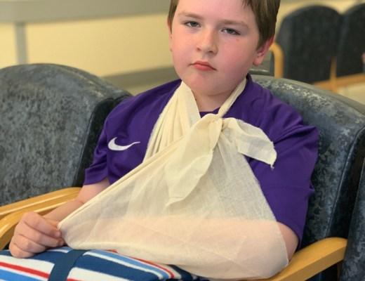 breaking his wrist at Centre Parcs