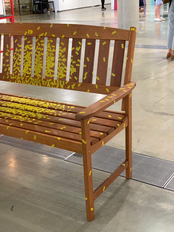 Tatty Devine stickered bench