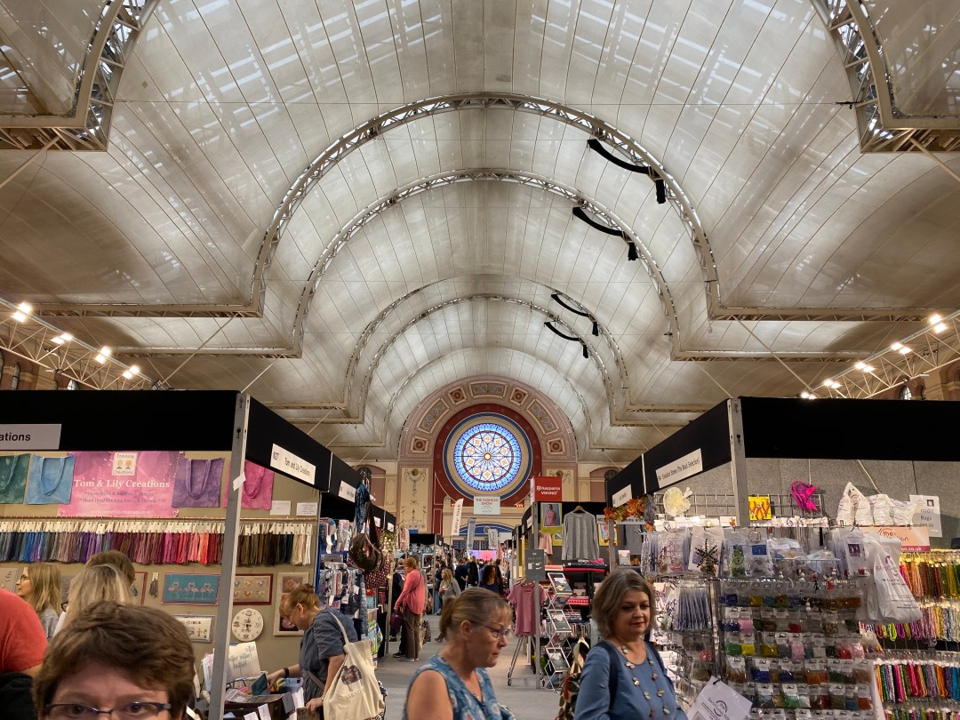 Shopping and making at the Knitting and Stitching Show