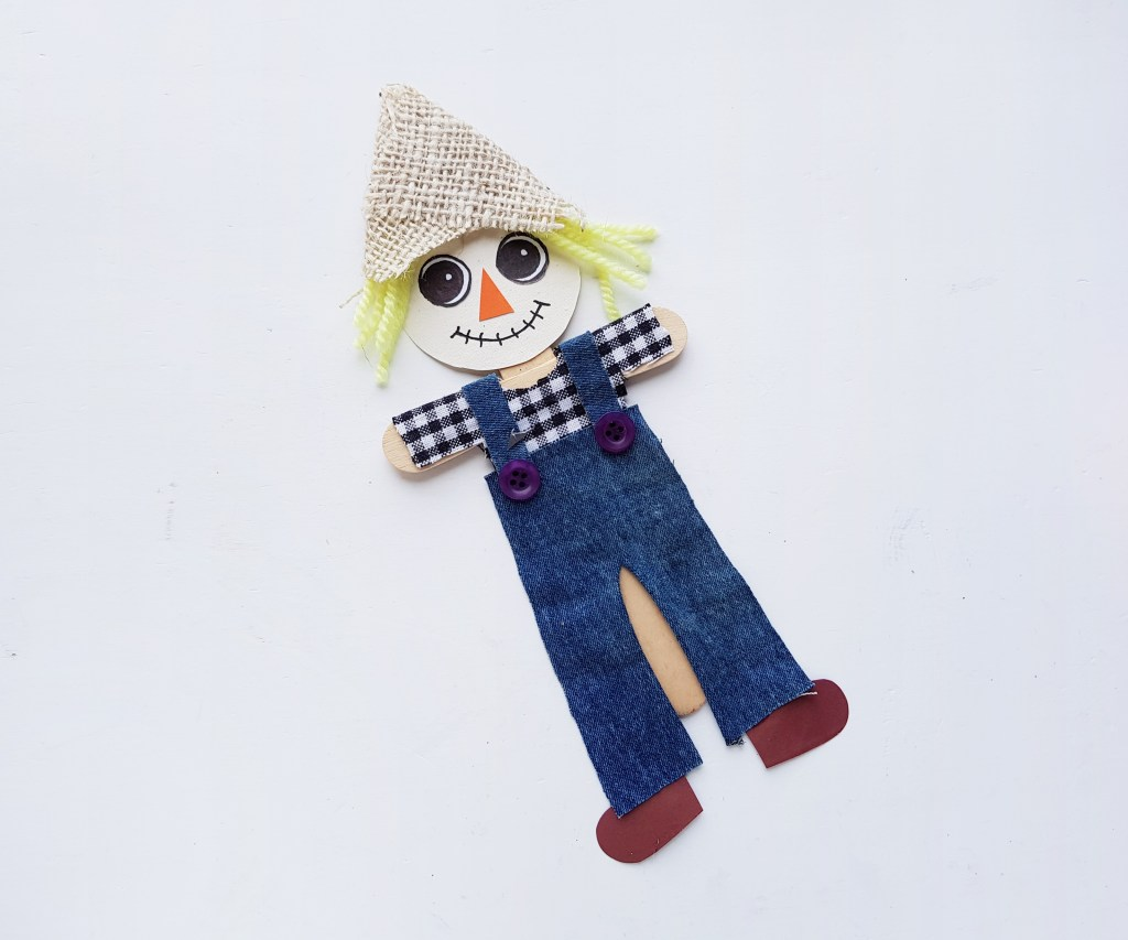 recycled scarecrow craft for kids
