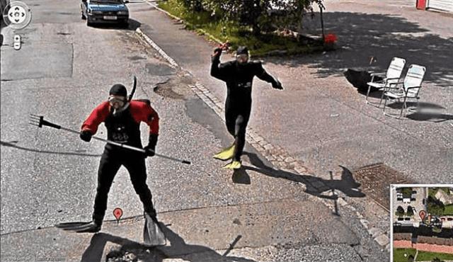 Mergulhadores de rua
