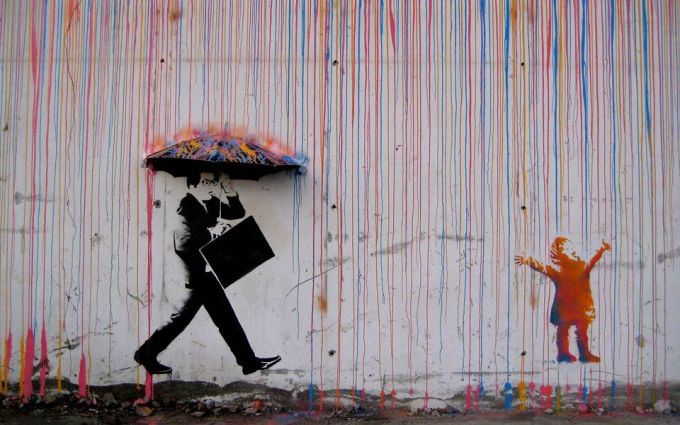 Cool graffiti: Caught in a paint storm