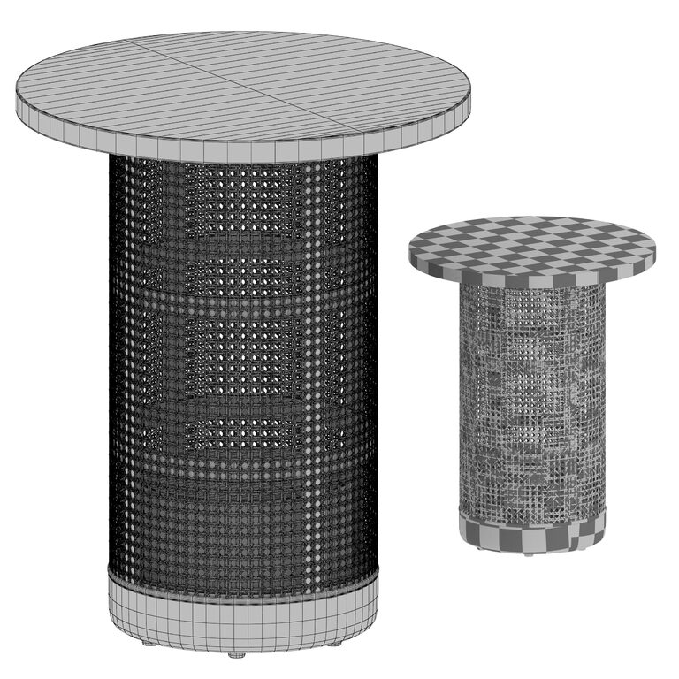 vernet travertine cane end table crate and barrel 3d model download 3d model vernet travertine cane end table crate and barrel 108929