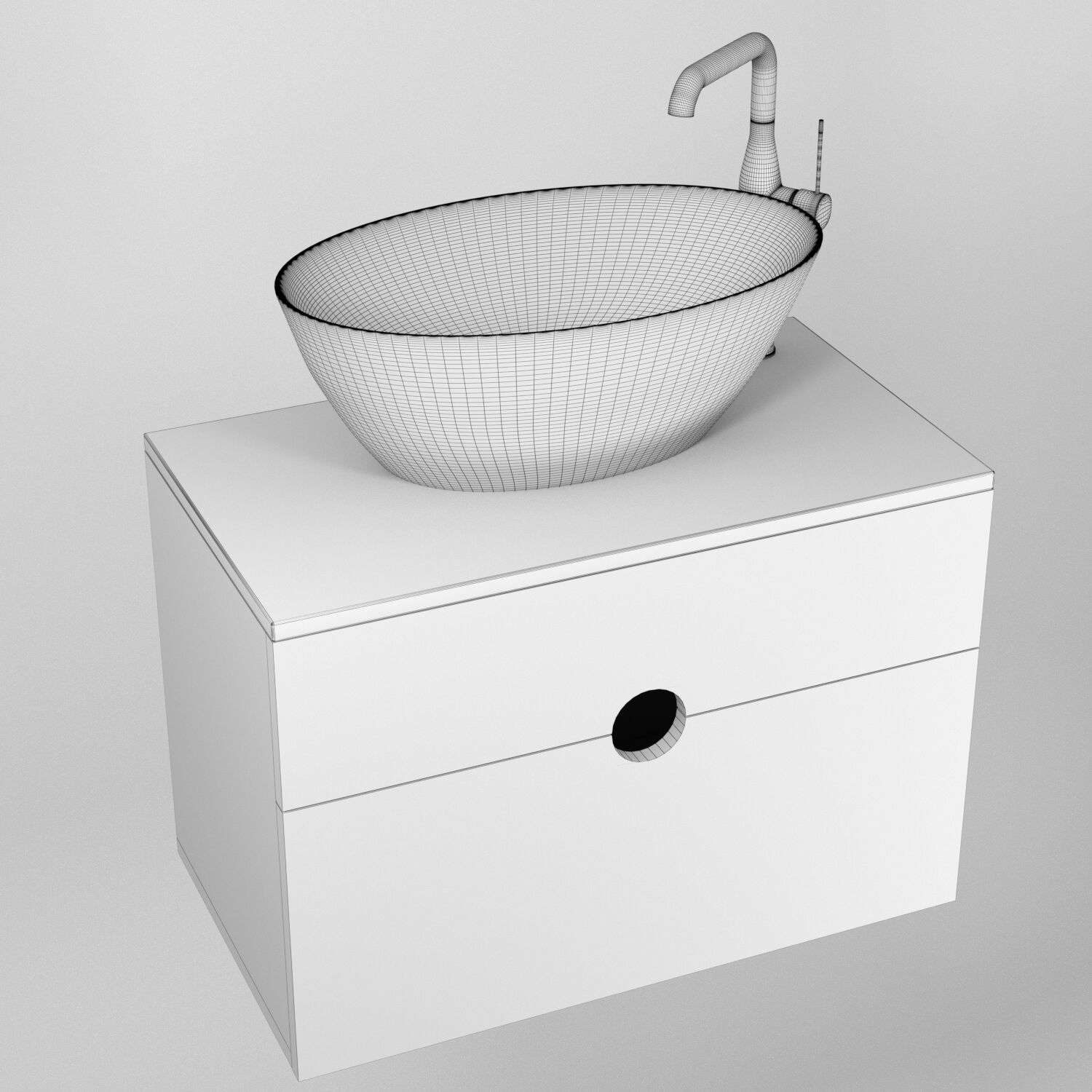 orange sole 75 washbasin with cabinet and grohe essence new faucet 3d model download 3d model orange sole 75 washbasin with cabinet and grohe