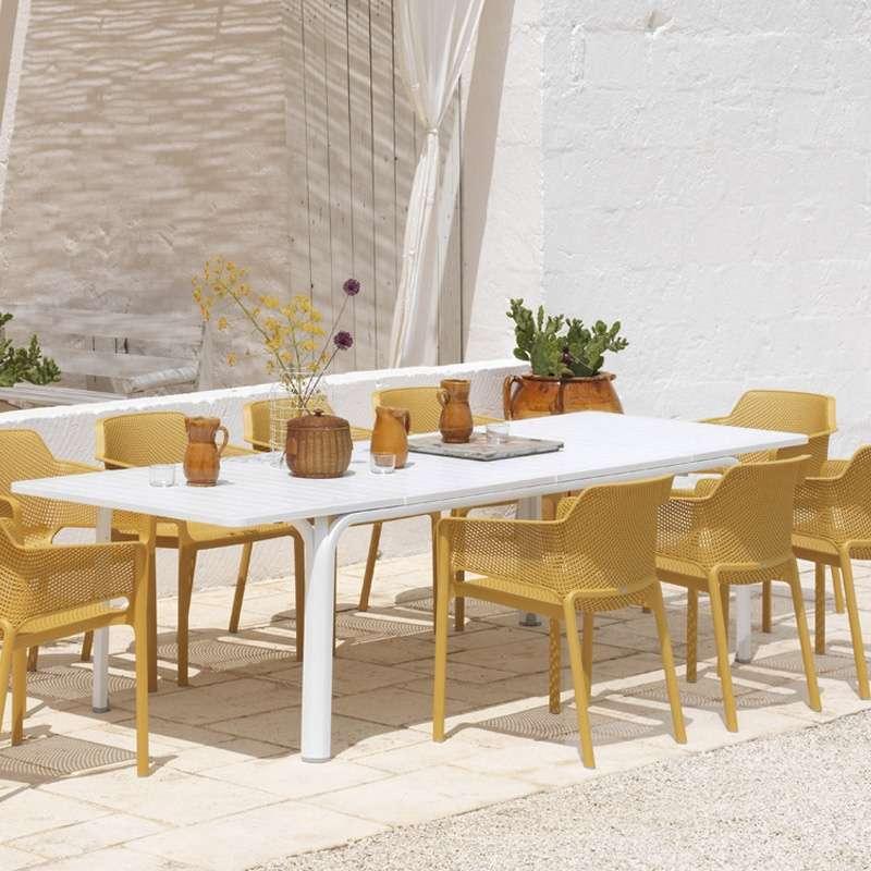 salon de jardin en polypropylene et aluminium alloro net