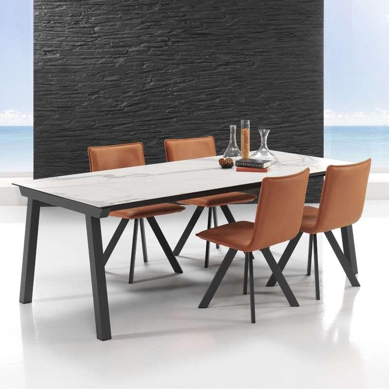 table moderne extensible en ceramique benidorm mobliberica