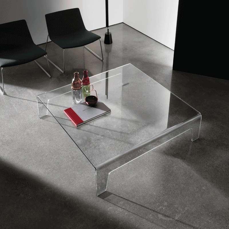 table basse design carree en verre frog sovet