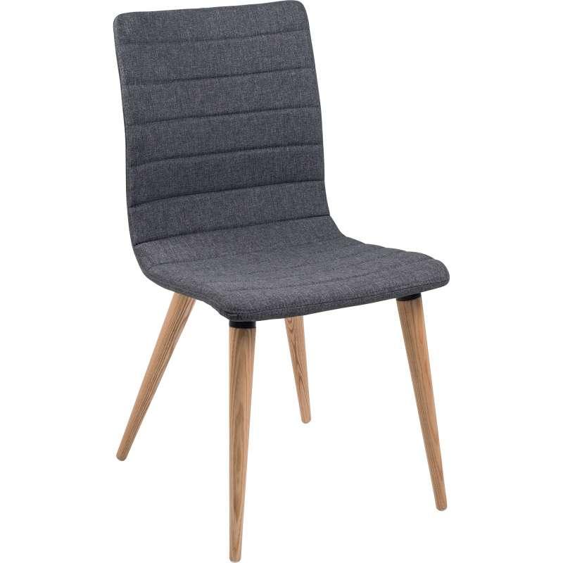chaise scandinave en tissu avec pieds en bois doris