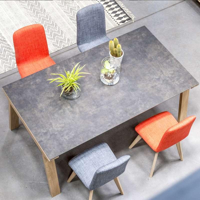 table de salle a manger en ceramique rectangulaire cera concept v