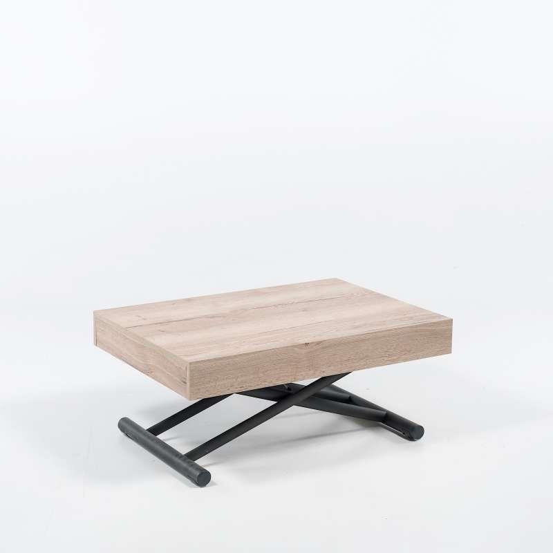 table reglable en hauteur et extensible en melamine compact
