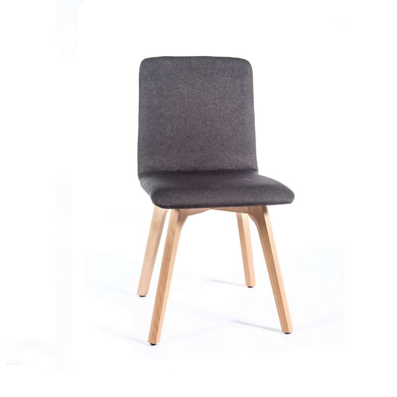 chaise de salle a manger moderne en tissu et bois plaza