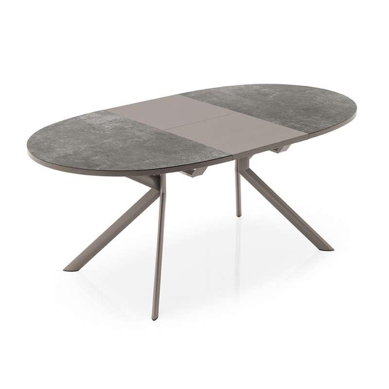 table ovale extensible en ceramique giove connubia