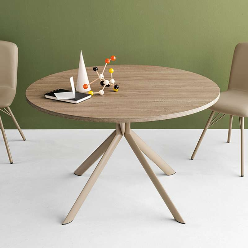 table ronde extensible en melamine giove connubia