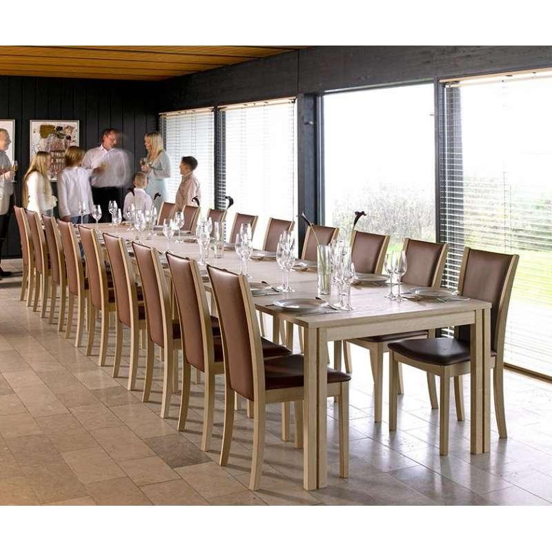 table scandinave rectangulaire en bois avec allonges sm23 24