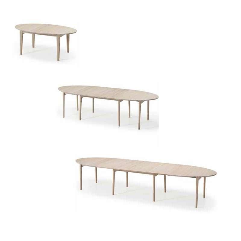 table de salle a manger ovale scandinave en bois avec allonges sm78