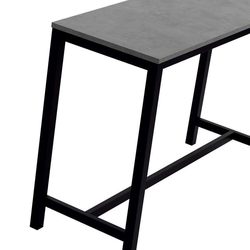 table haute de cuisine hauteur 90 cm en stratifie et metal vienna