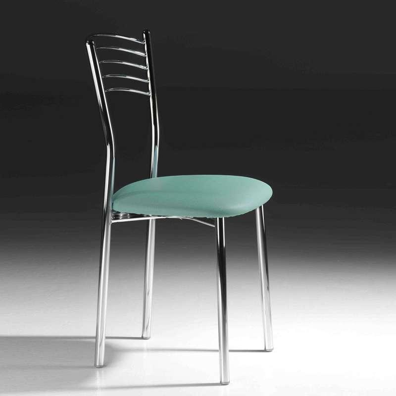 chaise de cuisine en metal avec assise rembourree marta