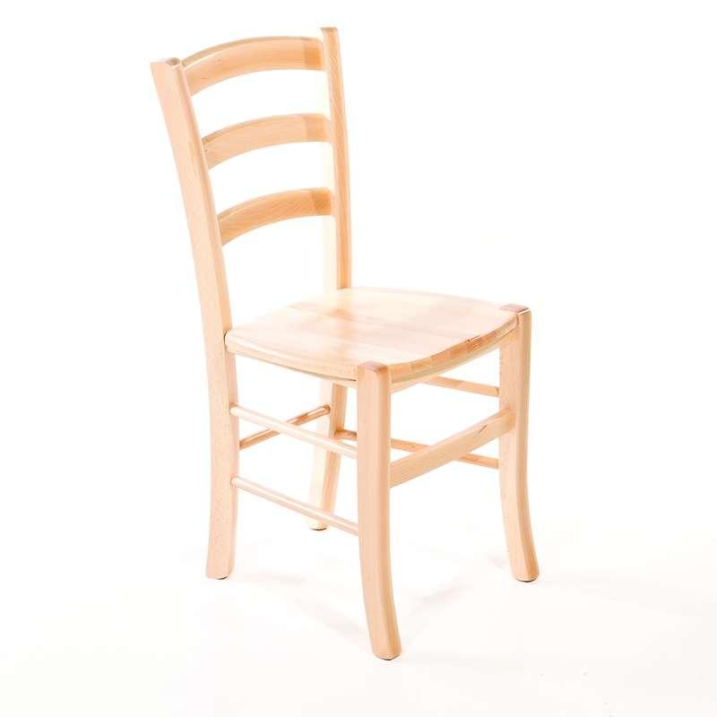 chaise de cuisine rustique en bois massif avec assise bois broceliande