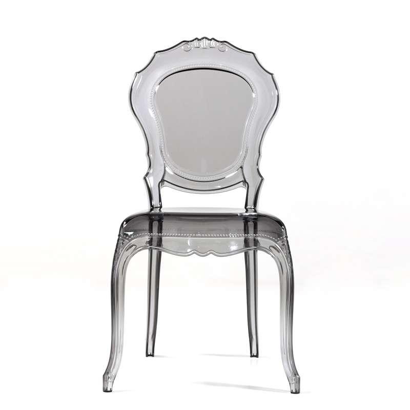 chaise louis xv transparente modernisee en polycarbonate belle epoque