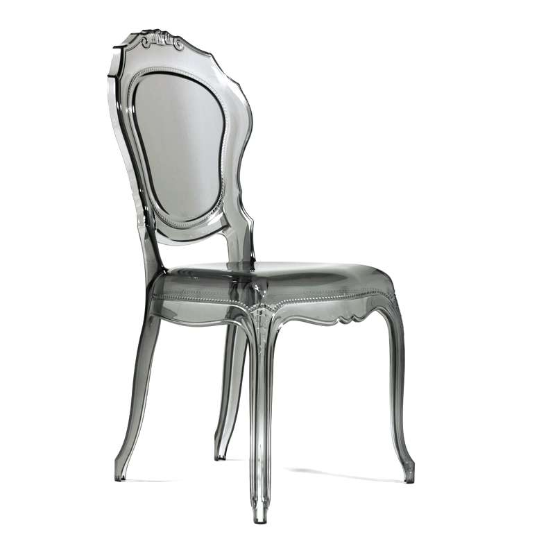 chaise louis xv transparente modernisee en polycarbonate belle epoque