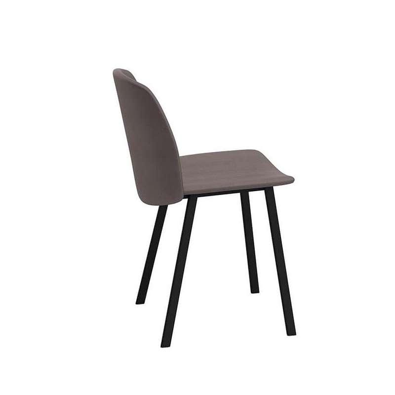 chaise tendance rembourree avec pieds en metal olivia