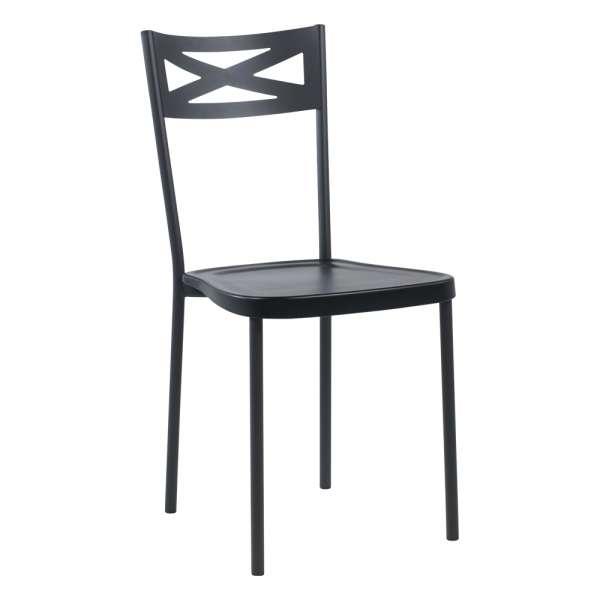 chaise de cuisine contemporaine en metal assise en polypropylene kelly