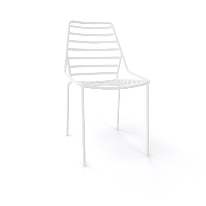 chaise design empilable en fil metal link