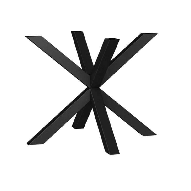 pied de table central design en metal forme mikado rosace carrier