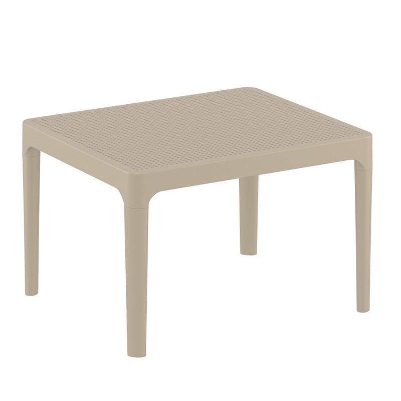 table basse de jardin rectangulaire en resine sky