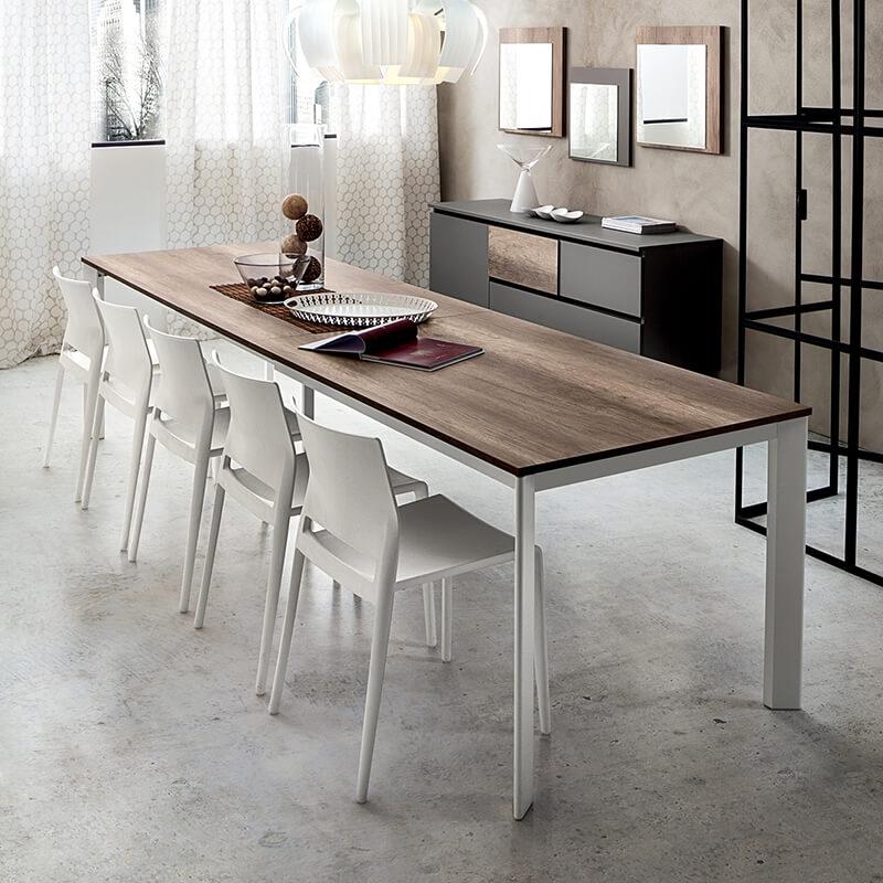 grande table extensible rectangulaire en stratifie mario