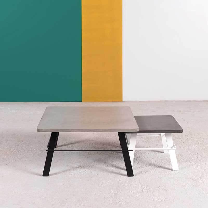 table basse design carree en beton cire fabrication francaise opale