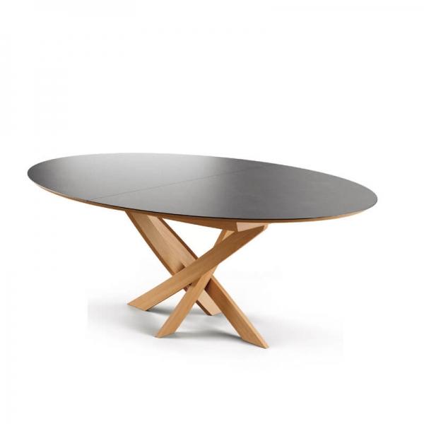table extensible design ovale en ceramique de fabrication francaise elliptica